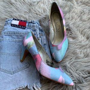 Vintage Palter Deliso Rainbow Heel